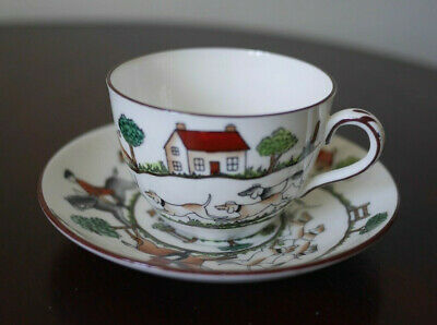£50 • Buy Crown Staffordshire Hunting Scene Cup & Saucer Coalport Wedgwood