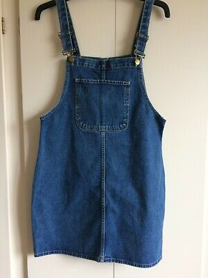 £3.99 • Buy Denim Pinafore Dress 12 Blue Great Condition