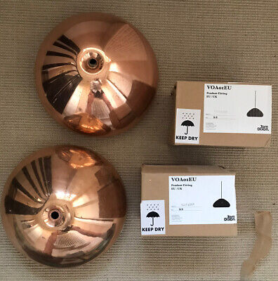 £100 • Buy Tom Dixon Copper Void Pendant Lights Pair With Cables And Ceiling Roses