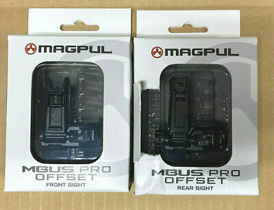 $100.99 • Buy Magpul MBUS PRO Offset Sights Front And Rear Set - Black