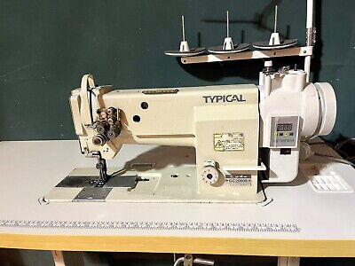 """£1249 • Buy Typical Two, Double / Twin Needle 1/4"""" Walking Foot Industrial Sewing Machine"""