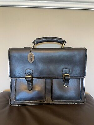 £6.99 • Buy East West London Briefcase Black Well Used Condition Leather