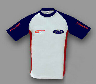 £16.63 • Buy New Mans Ford ST T-shirt Car Fan Apparel With Embroidered Emblems, Apparel
