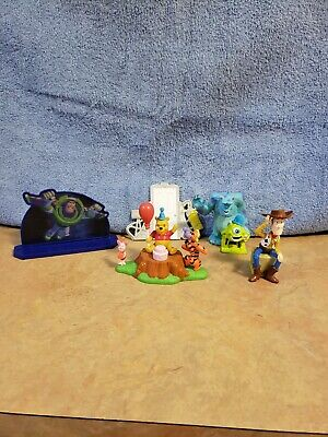 £8.60 • Buy Lot Of Disney Cupcake Cake Toppers Decorations Woody Monsters Inc Pooh Buzz