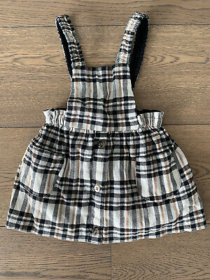 £4 • Buy Girls Checked Pinafore Dress By Zara - Age 2-3 Years