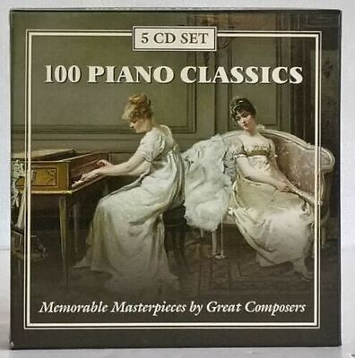 £5.09 • Buy 100 Piano Classics - Memorable Masterpieces By Great Composers - 5 CD SET