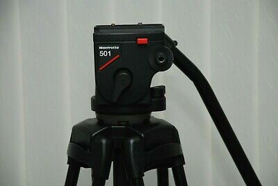 £350 • Buy Manfrotto 501 Pro Video Head With Manfrotto 525mvb Two Stage Tripod Legs+Bag