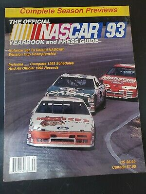 $9 • Buy THE OFFICIAL 1993 NASCAR  YEARBOOK  AND PRESS GUIDE - Kulwicki Car On Cover
