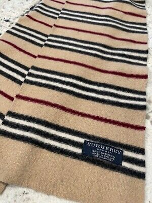 $22 • Buy Man Or Womans Burberry 100% Lambswool Scarf Made In England 100  X 8  Dimentions
