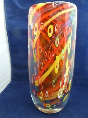 $450 • Buy LARGE STEFANO TOSO, MURANO, MILLEFIORI VASE  10.6 Lbs. 11 1/2 Inches Tall