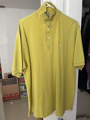 $15 • Buy 100% Auth BURBERRY LONDON Men's Polo Shirt XXL Great Condition Apple Green