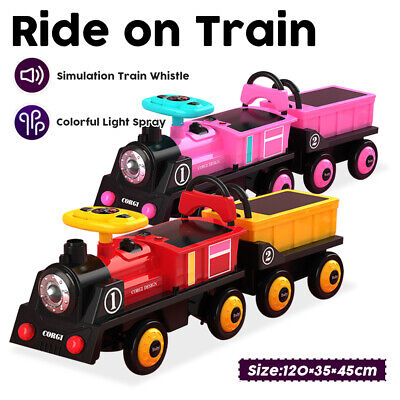 £69.99 • Buy 12V Ride On Train Kids Electric Ride On Car For 2 Seater With Music USB MP3 Port
