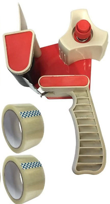 £5.49 • Buy New Strong Hand Tape Gun Dispenser 50mm + 2 Free Rolls Of Clear Tape 48MM X 66M