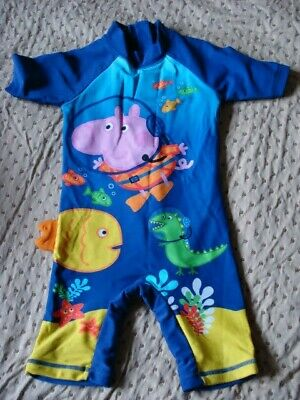 £3 • Buy Boys Peppa Pig All In One Swimming Suit Aged 2-3 / 92-98cm