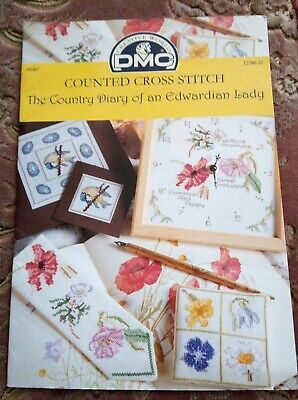 £4.99 • Buy DMC - The Country Diary Of An Edwardian Lady Cross Stitch~P5061~9 Patterns Book