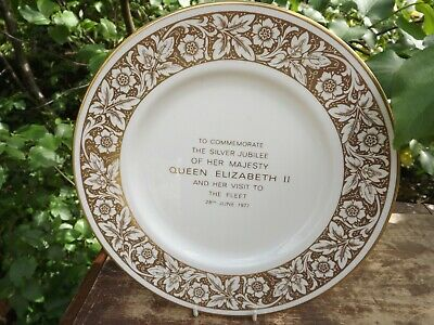 £24.99 • Buy 1977 Queen's Silver Jubilee Review Of The Fleet Plate By Minton China