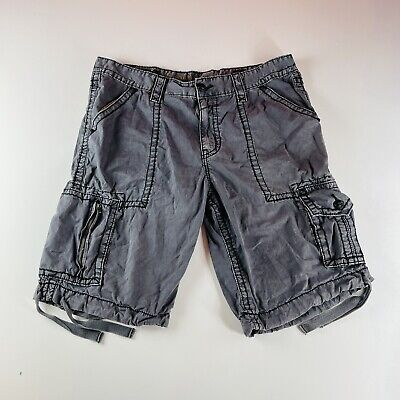 $44.95 • Buy Rock Revival Cargo Shorts Gray Flap Pockets Embroidered Mens Size 38
