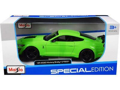 $32.95 • Buy 2020 Ford Mustang Shelby GT500 Green 1:24 Diecast Model Car - Maisto 31532GRN