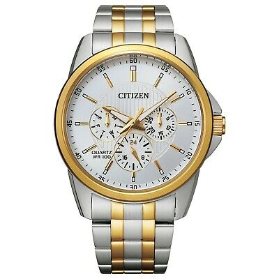 $69.99 • Buy Citizen Men's Quartz Day And Date Multi-Dial Two-Tone 42mm Watch AG8344-57B