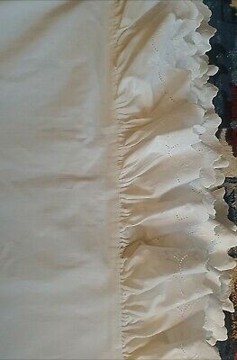 £232.55 • Buy Rare Vintage Ralph Lauren IVORY Patience BROMLEY Eyelet King Size Duvet Cover