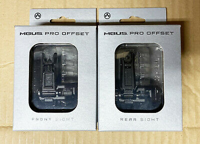 $101 • Buy Magpul MBUS PRO Offset Sights Front And Rear Set - Black