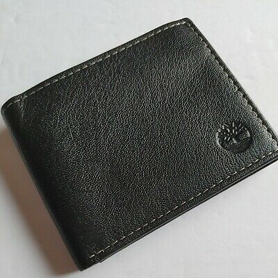 $ CDN19.97 • Buy Timberland Men's Leather Wallet With Attached Flip Pocket Black Bifold New B61