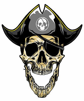 £2.25 • Buy Pirate Skull Iron On T Shirt Transfer A5