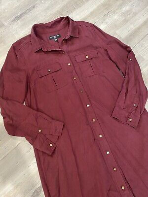 AU18.50 • Buy Forever New Maroon Gold Accents Dress - Size 12