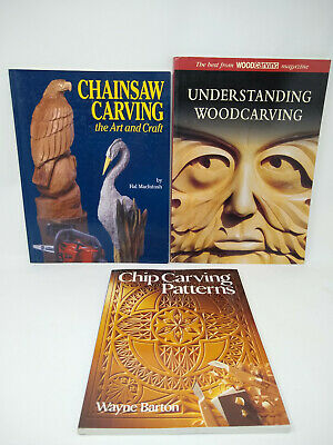 £10.79 • Buy Lot 3 Wood Carving Books, Chainsaw Carving, Chip Carving