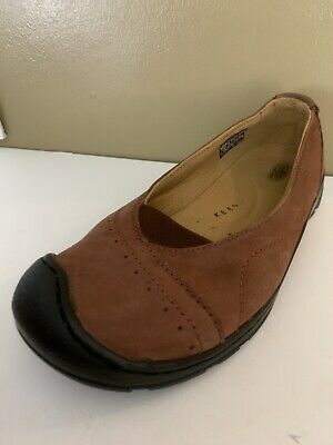 $ CDN49.78 • Buy Keen Sterling City Womens Size 10 Safety Toe Loafers Flats Slip On Shoes Brown
