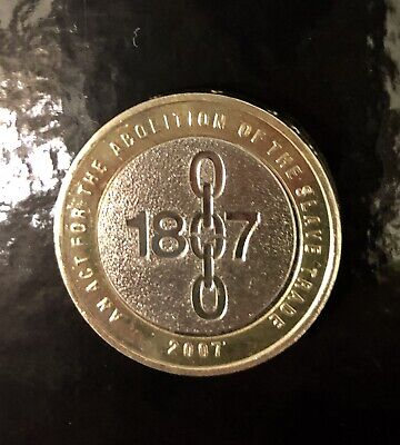 £4 • Buy £2 'An Act For The Abolition Of Slavery Trade' 2007 Two Pound Coin Hunt Circ VGC