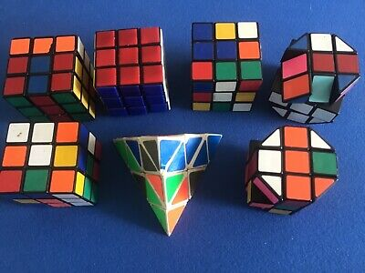 £6.52 • Buy Collection Of 7 Vintage 1980s Rubiks Cubes Square / Pyramid / Hexagonal