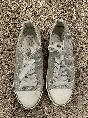 $ CDN3.73 • Buy  Emergency Exit Silver Sparkly Shoes Womens Size 10