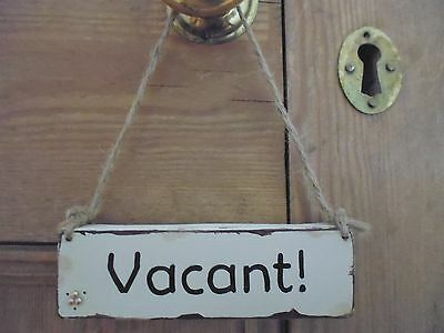 £5.50 • Buy Shabby Chic Wooden Vintage Style Vacant/Engaged Bathroom/Toilet Door Sign/Plaque
