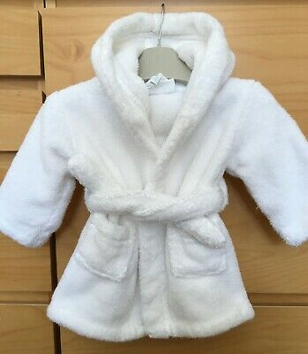 £3.99 • Buy Baby Girl's White Towelling Dressing Gown 0-6 Months THE LITTLE WHITE COMPANY