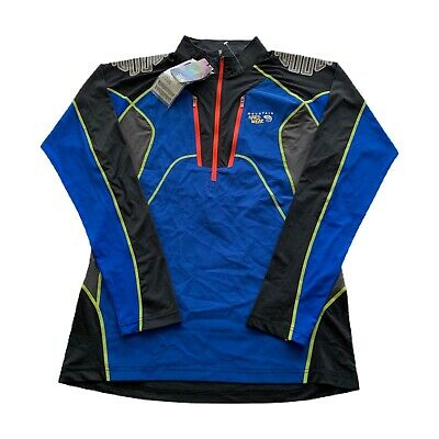 $34.99 • Buy Mountain Hard Wear Blue Neon Bicycle Cycling Compression Top Jersey Men's Large