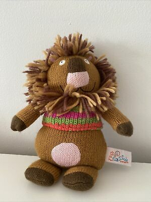 £3.50 • Buy Simon The Lion 9  Knitted Soft Toy Plush By Latitude Enfant