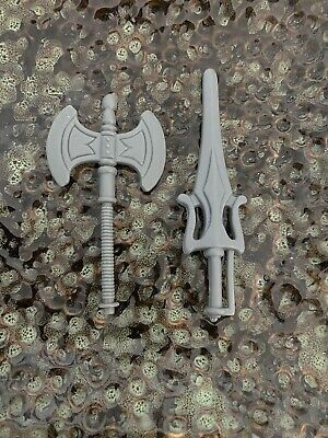$24.99 • Buy MOTU Masters Of The Universe He-Man Battle Axe And Sword Weapon Figure Accessory
