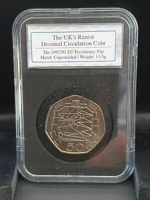 £75 • Buy 1992 EEC PRESIDENCY OF THE EU DATESTAMP SLABBED FIFTY PENCE 50p - Boxed