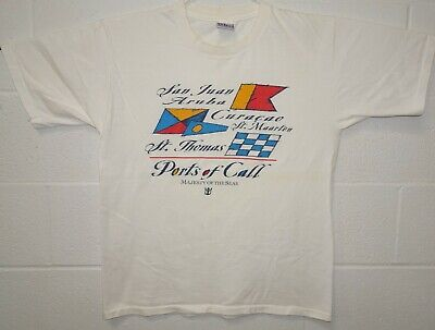 $14.99 • Buy Ports Of Call Majesty Of The Seas Cruise Ship S/S All Sport T Shirt Large White