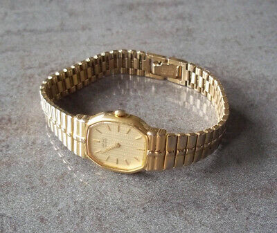 £26.99 • Buy Seiko Gold Tone Womens Ladies Watch 2Y00-5100 New Battery Fitted, Fully Working