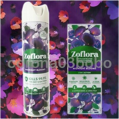 £10.89 • Buy Zoflora Midnight Blooms Bundle - NEW Disinfectant Mist Spray & Disinfectant