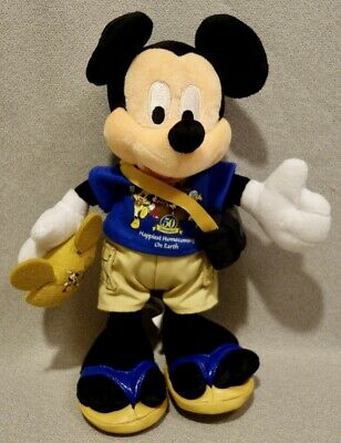 £17.27 • Buy Mickey Mouse Plush 50th Anniversary Gold Ear Hat Bean Bag - With Tags - Mint