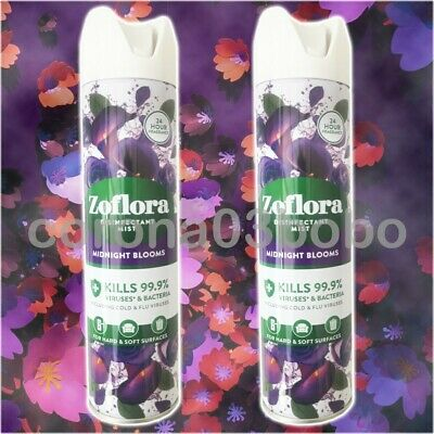 £10.49 • Buy 2 X Zoflora Disinfectant Mist Spray In Midnight Blooms Scent 300ml NEW
