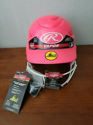 $29.99 • Buy Rawlings Vapor Pink Fastpitch Softball Helmet With Face Guard Size 6.5 - 7.5
