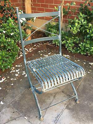 AU152 • Buy Antique French Metal Outdoor Chairs Set Of 8