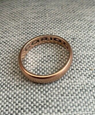 £225 • Buy Welsh 9ct Clogau 'Cariad' Gold Ring 5mm