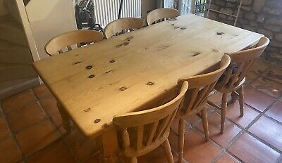 £20.30 • Buy Farmhouse Dinning Table With 6 Chairs