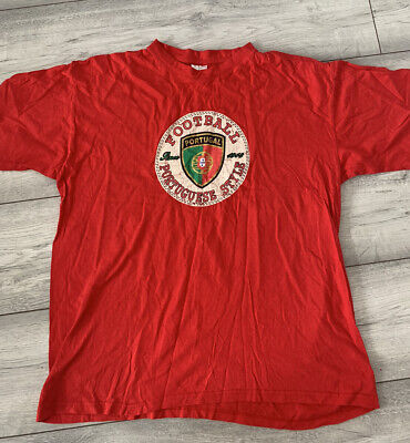 £1.20 • Buy B&C Collection Mens Red Portugal Football Style Red Tee T-shirt Top Sz M Medium