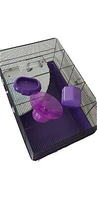 £3 • Buy XL Hamster Cage 61cm X 45cm.Plastic Tray And Wire Clip-on Cage + Accessories